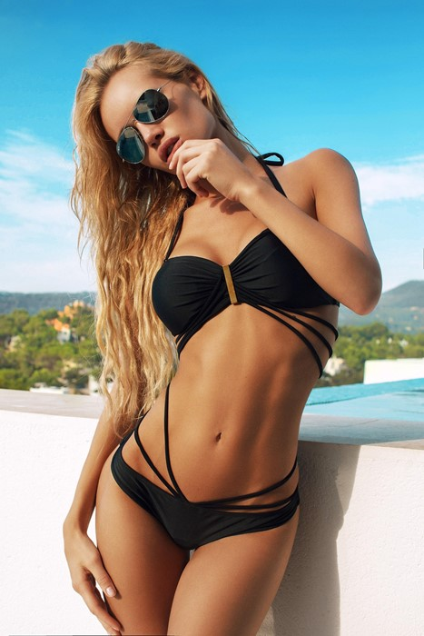 blonde girl sexy summer bikini sunglasses beach fashion sun pretty water glamour swimsuit erotic