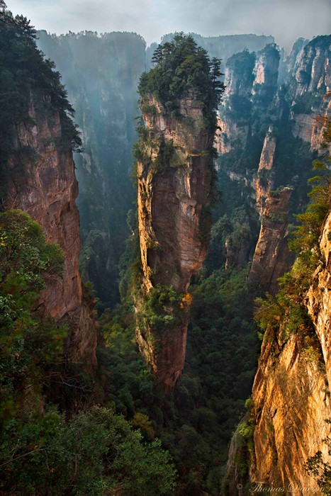 china outdoors travel nature landscape mountain cliff water canyon rock valley wood