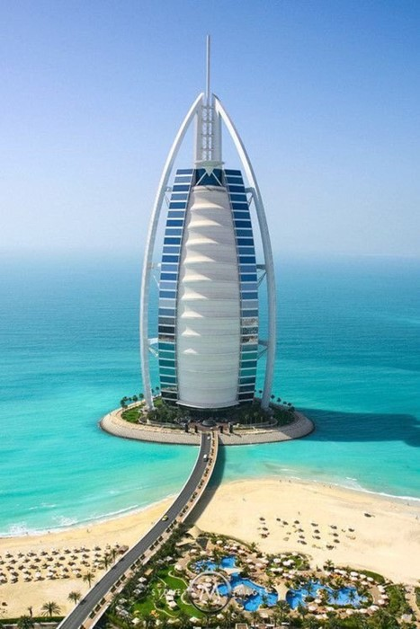 dubai travel water sky sea beach ocean hotel summer vacation