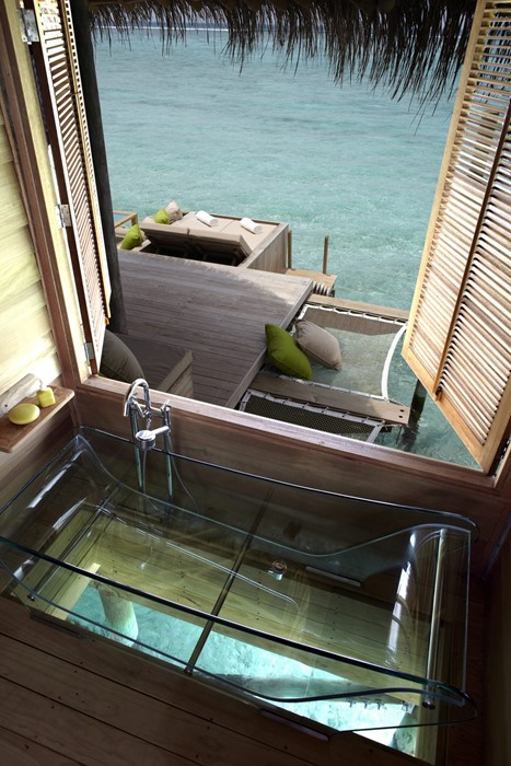 hotel luxury travel water seat window wood summer vacation relaxation
