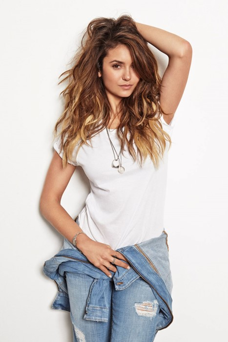 nina dobrev actress model girl sexy photosession jeans