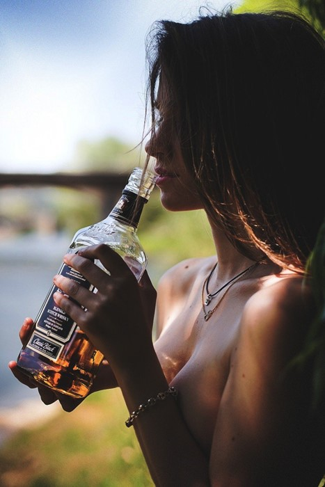 whiskey sexy girl adult portrait people attractive pretty hair casual drink