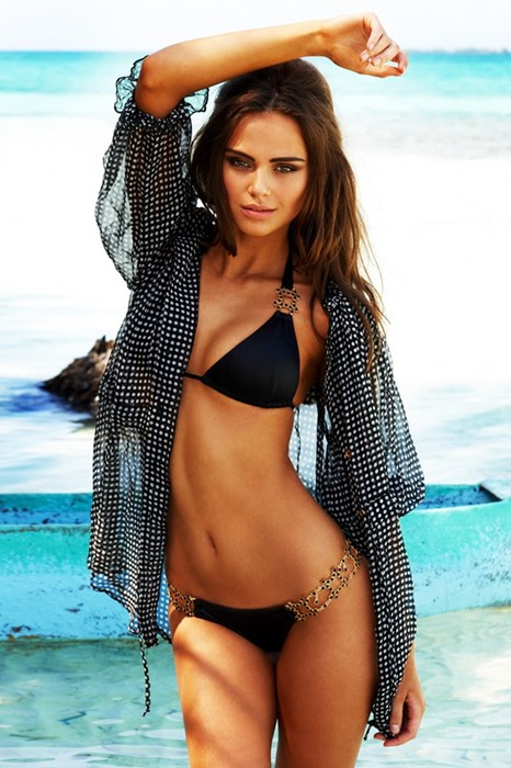 xenia deli girl beach summer woman sexy bikini water fashion vacation girl travel sea swimsuit