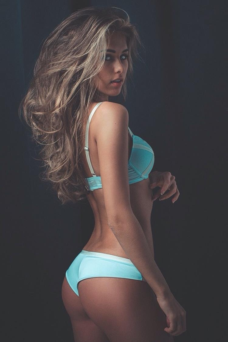 sexy model girl attractive body hair pretty erotic figure lady fashion