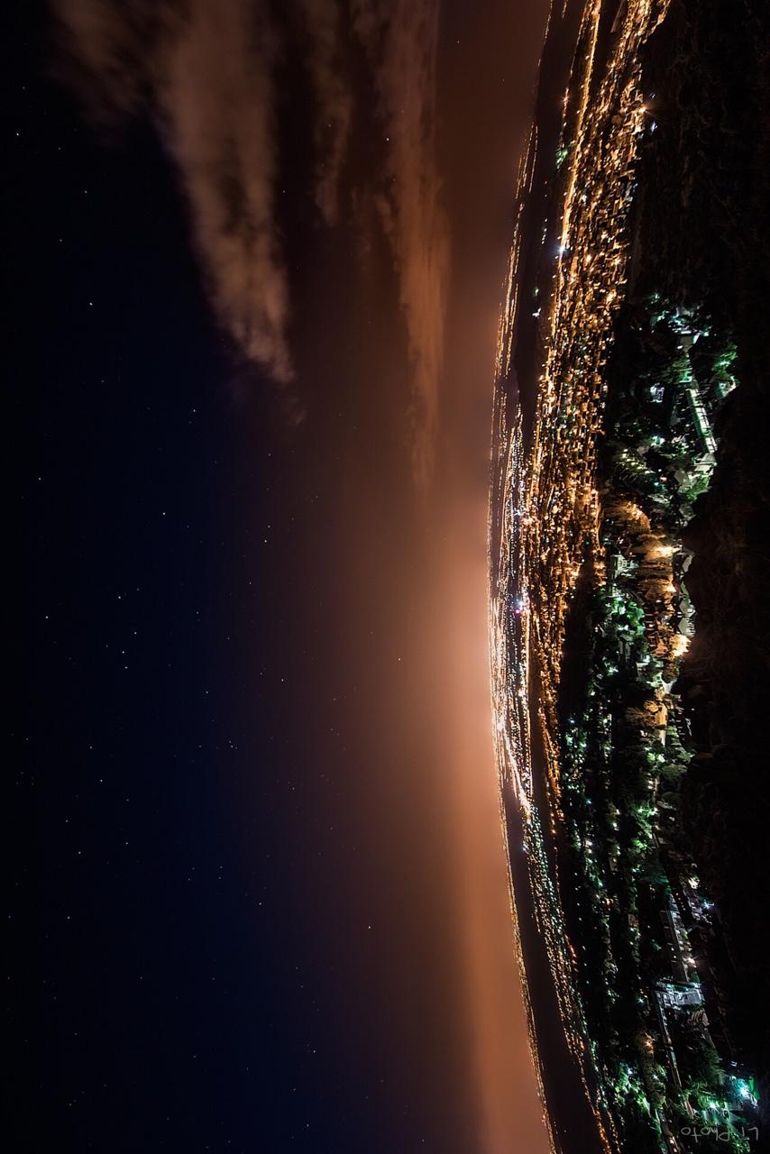 space lights moon dark blur light sunset sky astronomy stars earth