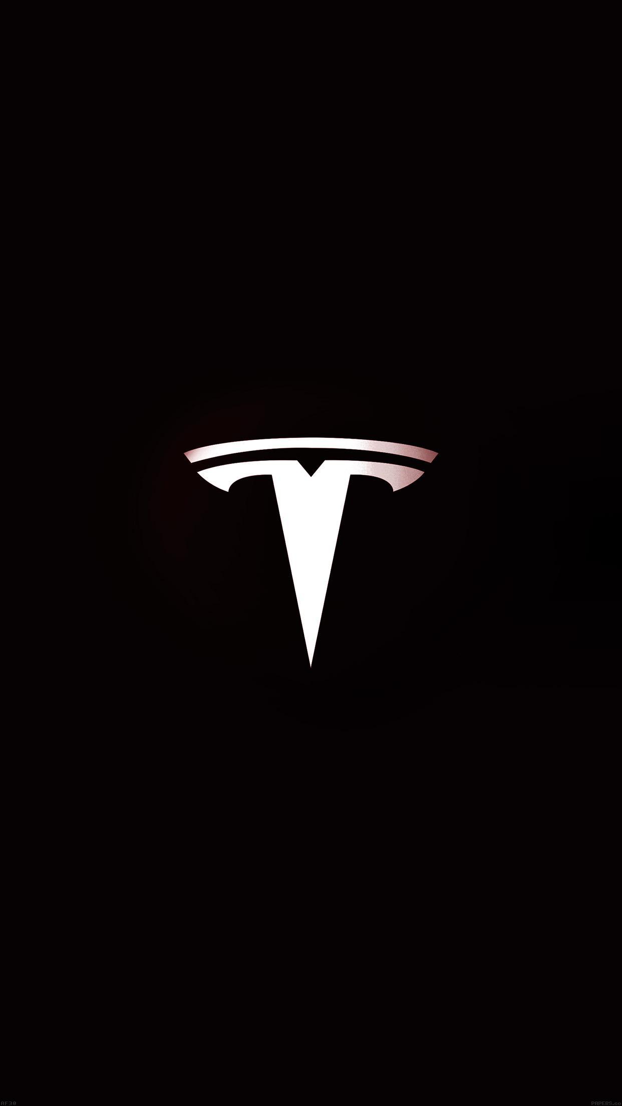 tesla motors logo dark sign