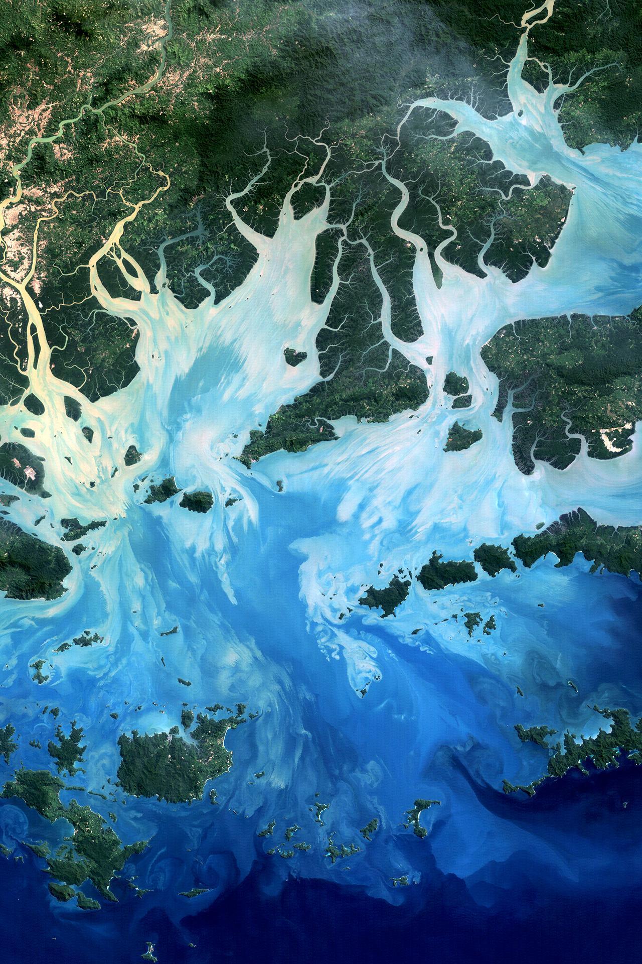topview height water desktop nature travel ocean painting sea