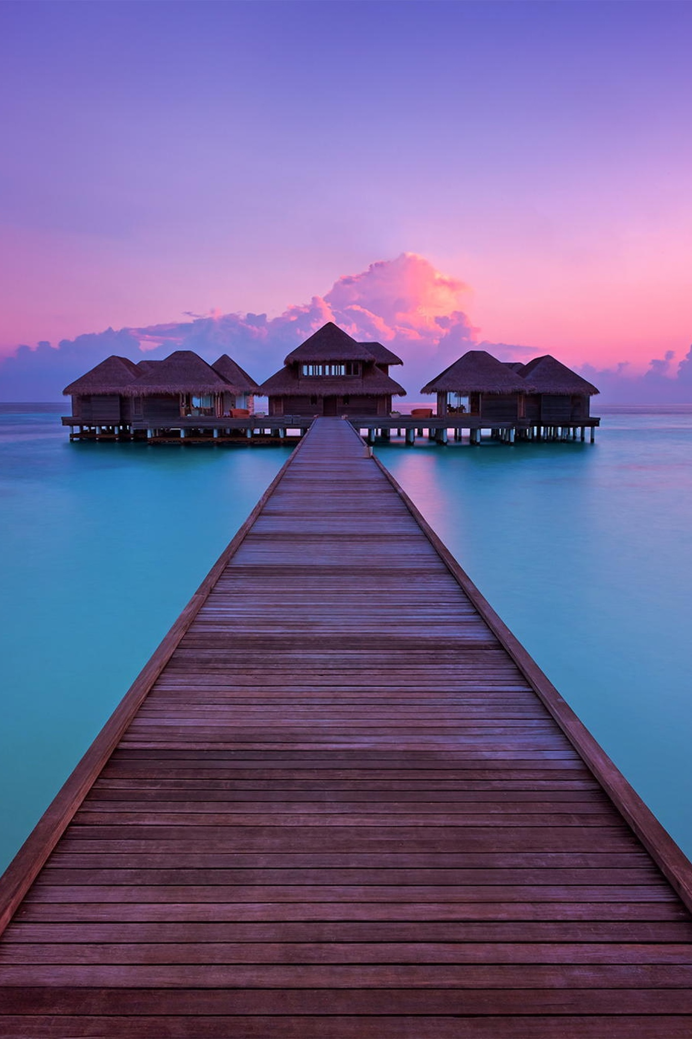 bora water sunset dawn travel dusk sea sky pier evening reflection landscape