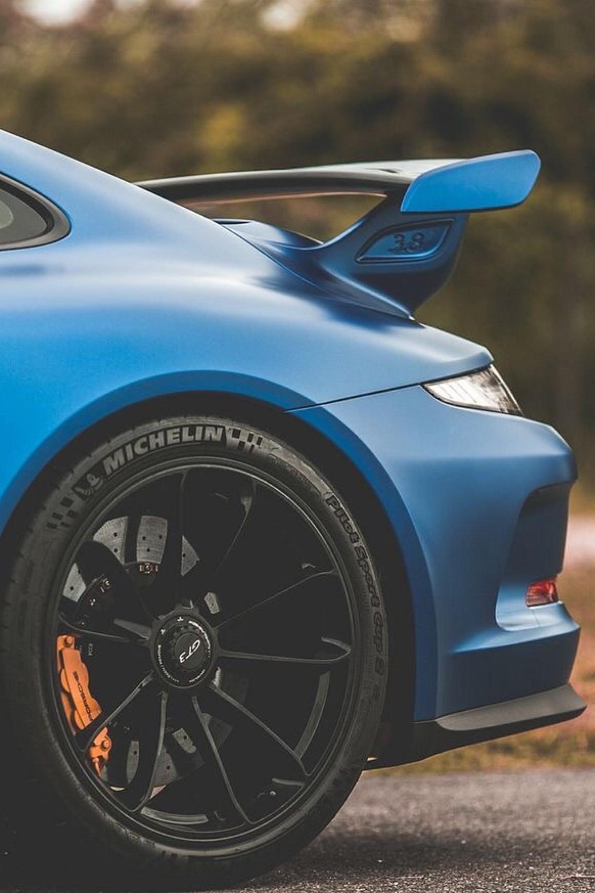 porsche blue 911 wheel sportscar fast drive daylight race hurry action