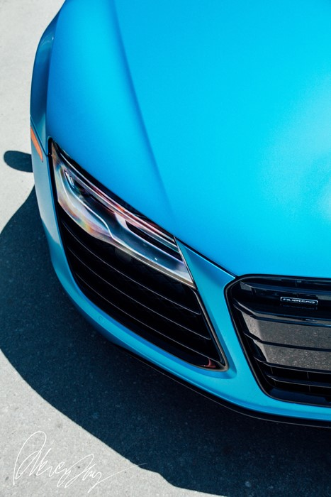audi r8 blue macro sportscar vehicle modern abstract elegant fast