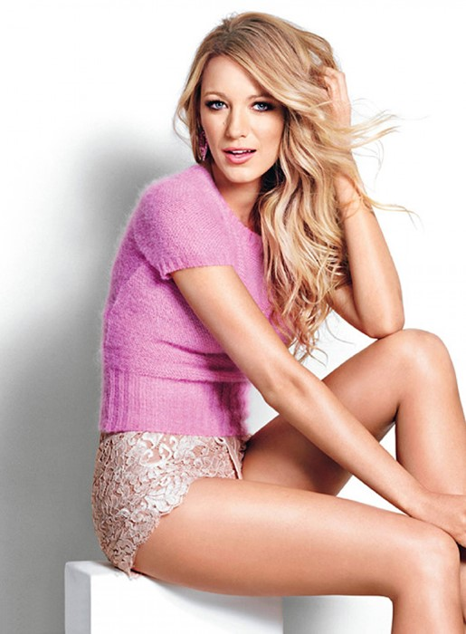 blake lively glamour sexy model actress girl shorts photosession