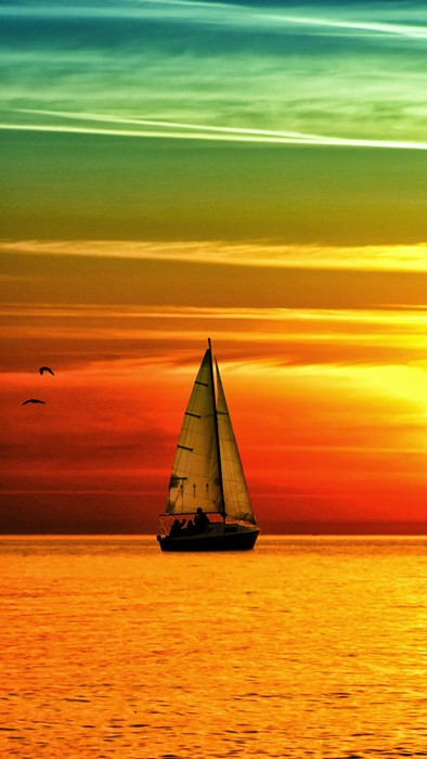 boat water sea ocean sunset sun beach sky summer nature dawn landscape