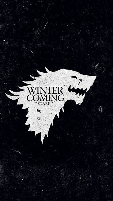 game of thrones got stark winter coming illustration art dark