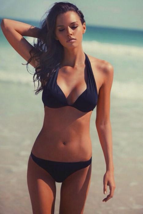 sexy girl bikini beach water thinning summer leisure fashion recreation sand lingerie