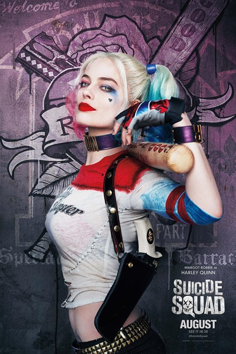 suicide squad movie margot robbie woman fashion graffiti sexy punk gloves costume model