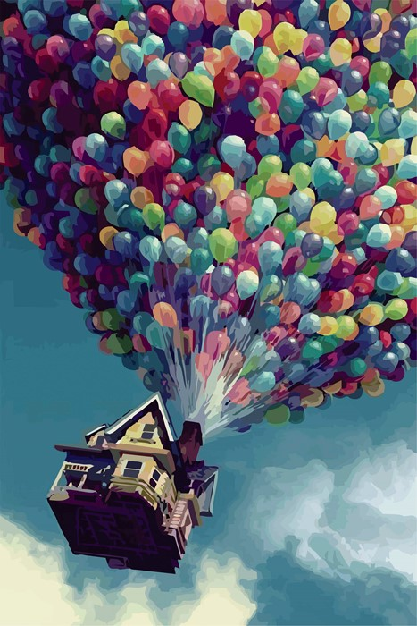 up movie baloons color desktop bright art outdoors celebration nature decoration