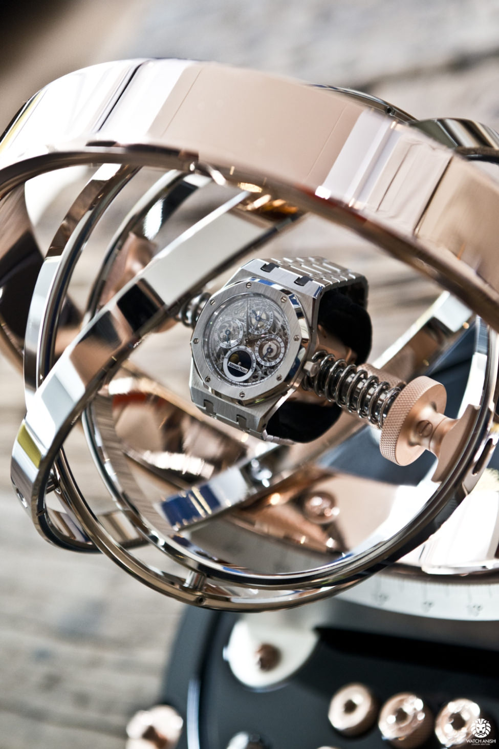 watch macro equipment technology chrome steel machinery instrument