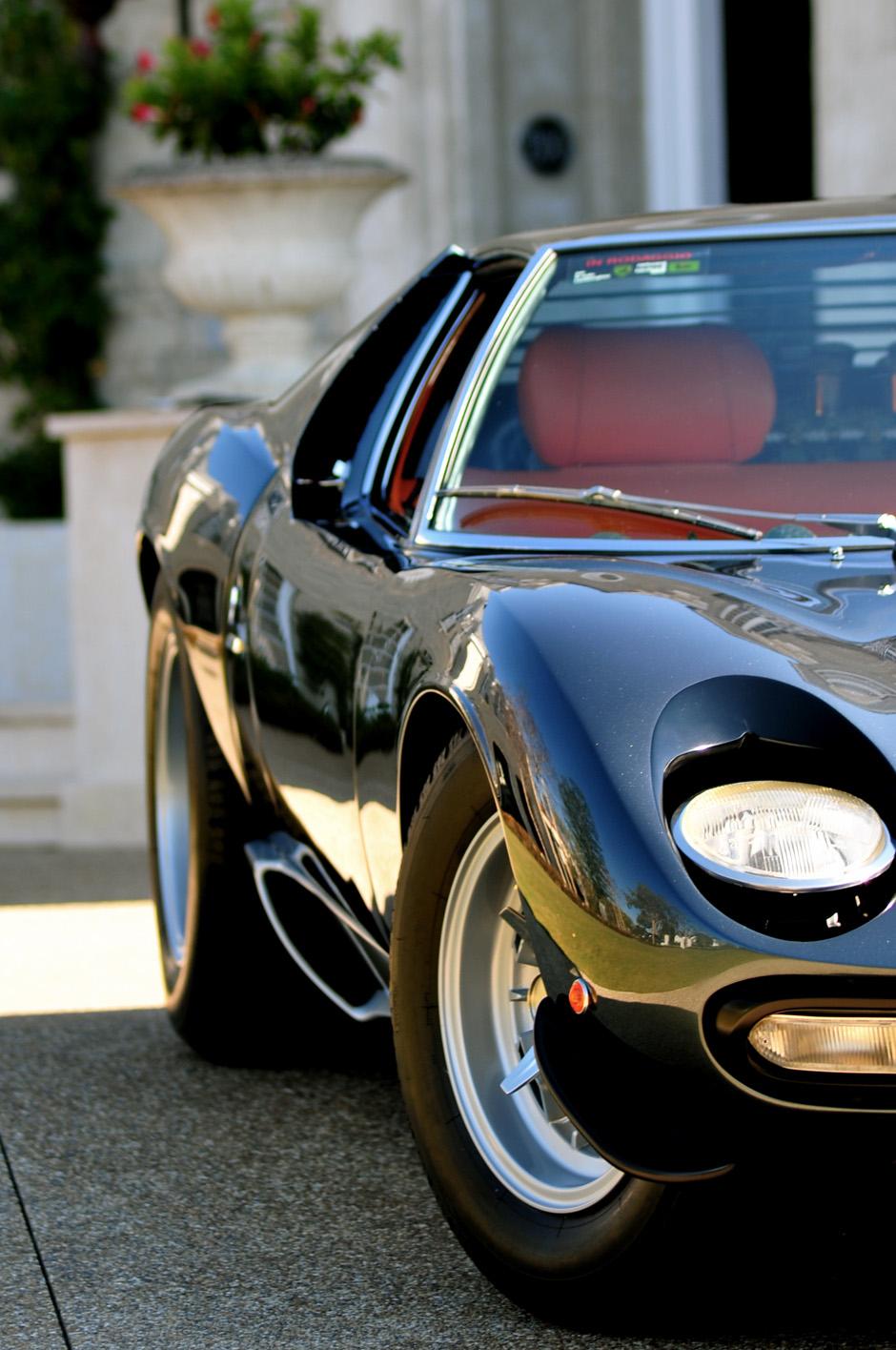 miura lamborghini black sportscar classic drive wheel vintage street chrome fast