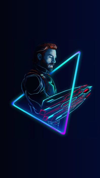marvel captain america neon dark art illustration graphic shape luminescence