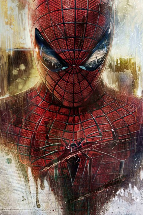 spiderman marvel art artistic painting graffiti wall color vintage decoration texture
