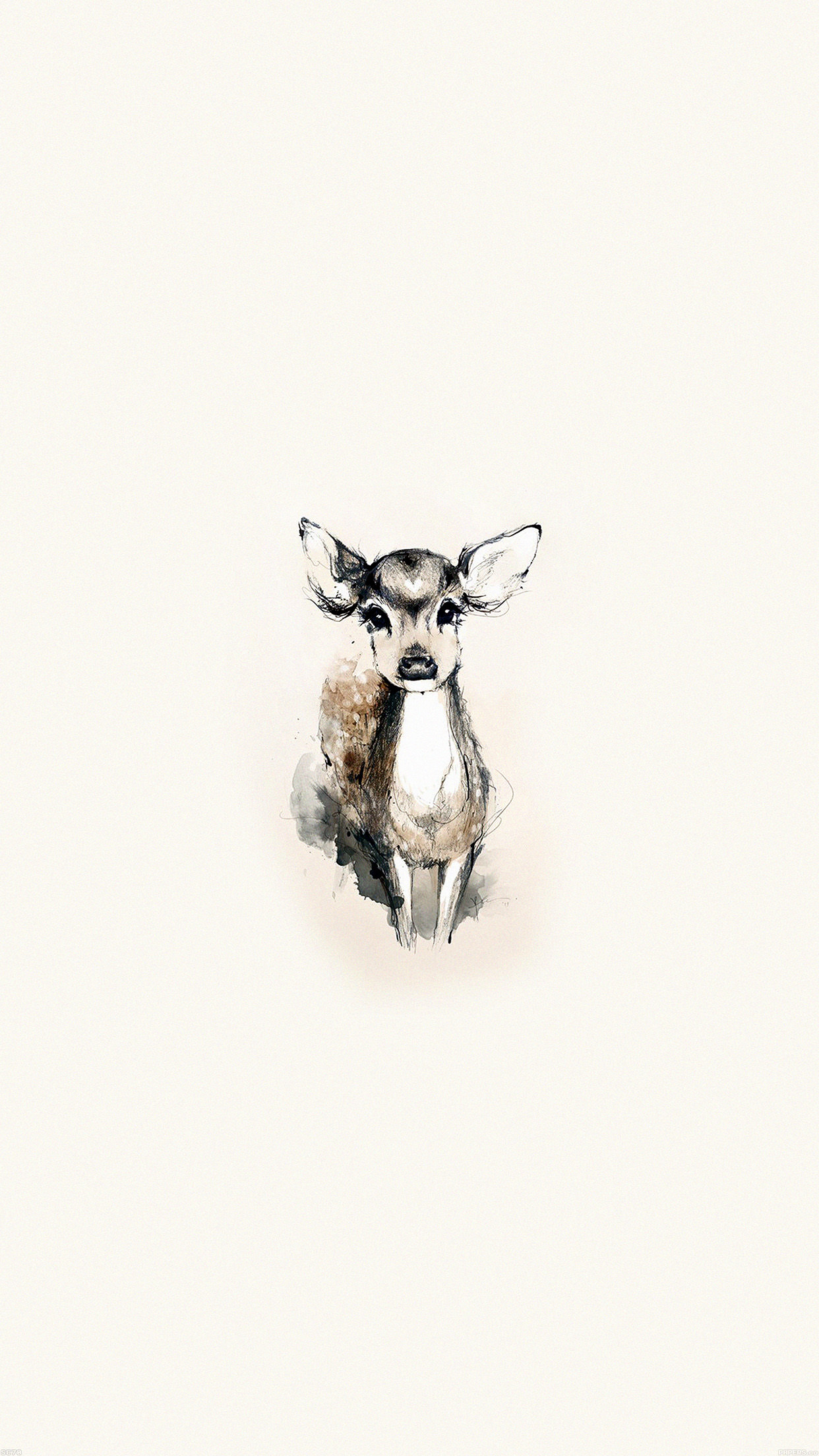 deer animal cute paint wildlife reindeer young nature antler