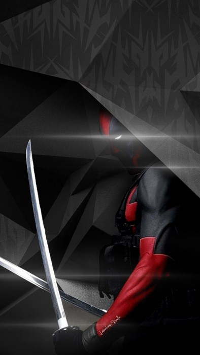 deadpool marvel comics weapon light abstract studio reflection