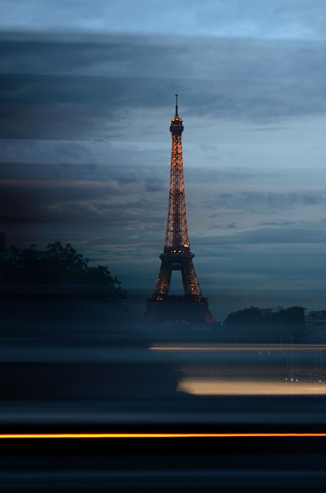 eiffel tower paris france water sunset travel sky dusk light evening vehicle