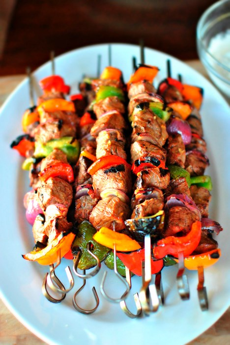 food photo maet skewer barbecue dinner kebab lunch cooking delicious beef hot