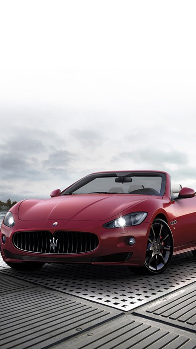 maserati red sportscar vehicle wheel fast automotive classic coupe chrome drive convertible