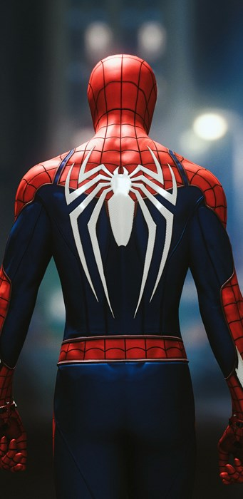 spiderman suit back marvel hero comics character web parker