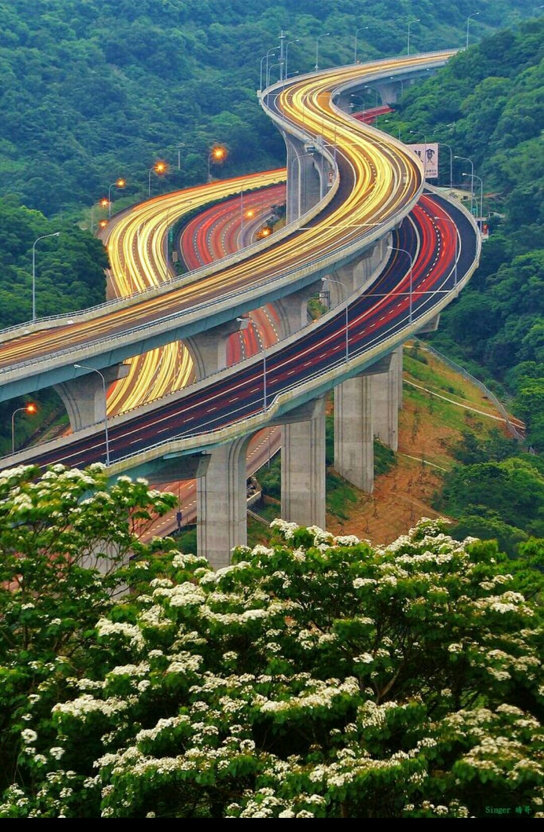 highway road travel architecture nature landscape sky building sight wood