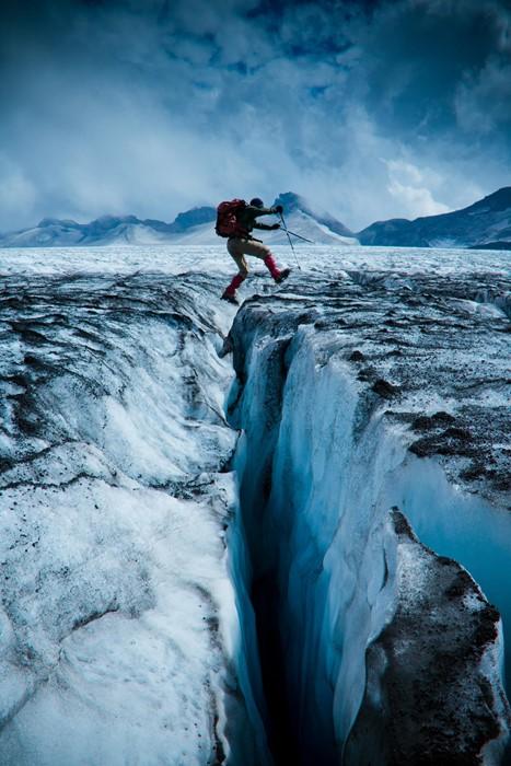 snow ice water winter cold glacier travel adventure climb people
