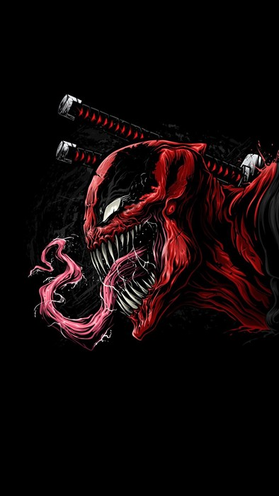 venom deadpool marver sony art black hero scary weapon comics