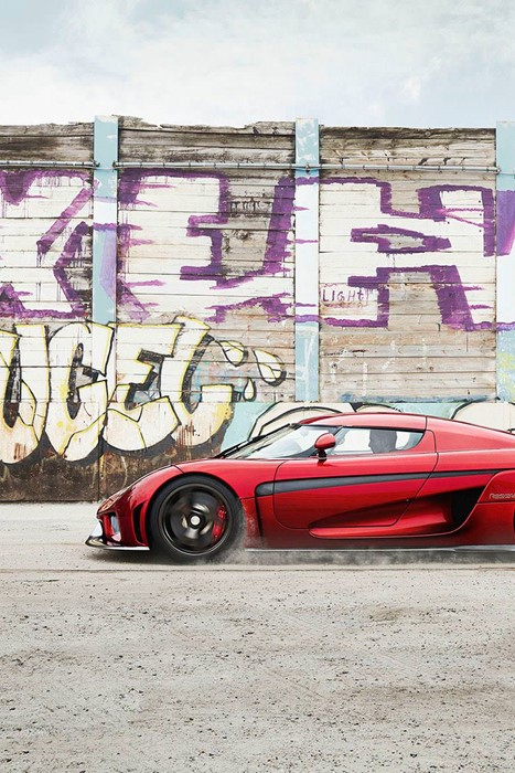 regera koenigsegg graffiti car vehicle street old abandoned vintage color urban road wall