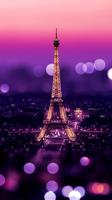 eiffel tower paris france city architecture sky evening building illuminated landmark