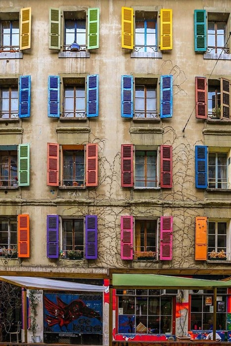 architecture building house facade window city travel urban colorful