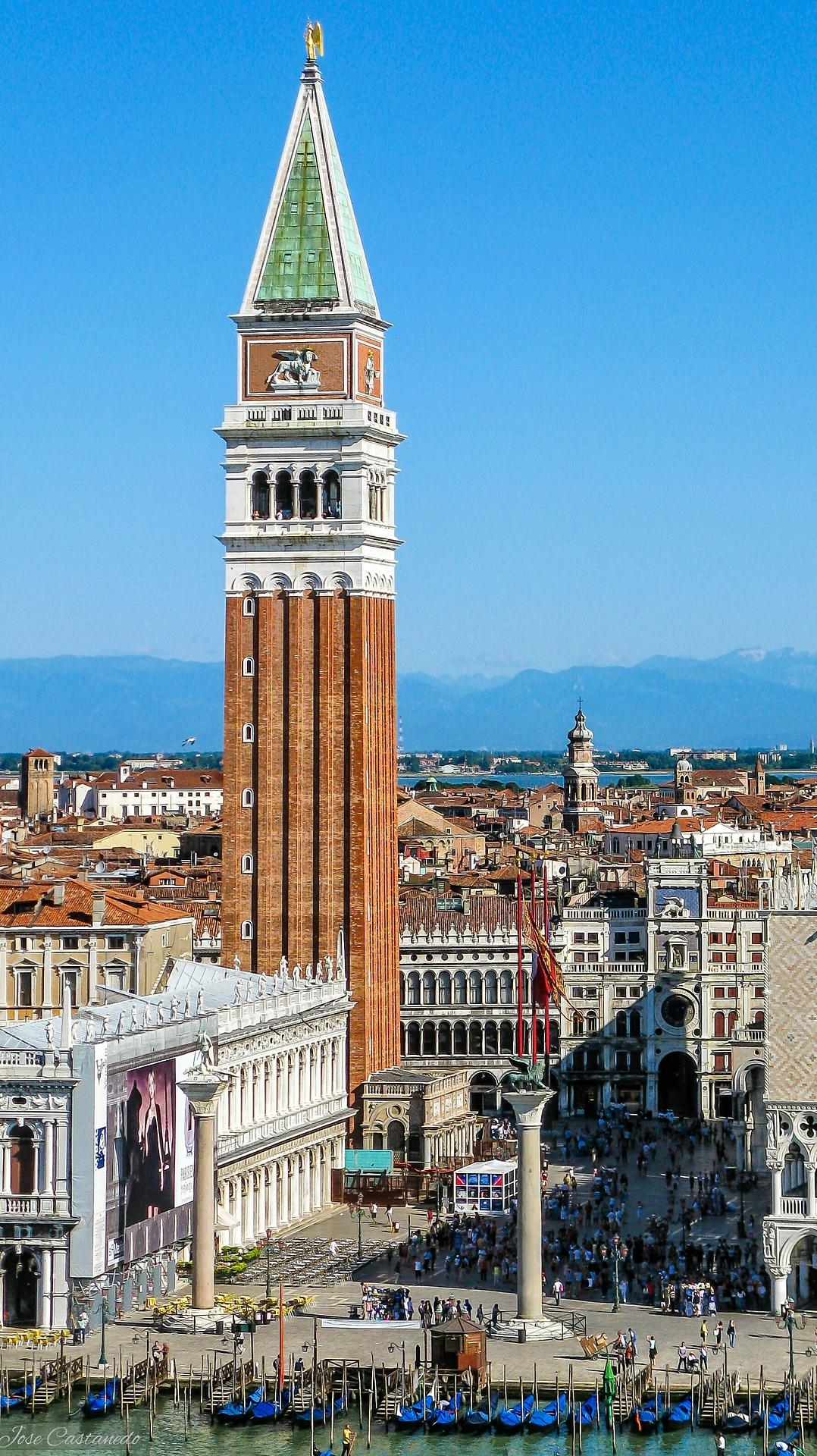 venice italy sanmarco architecture travel city building sky tower old cityscape town church