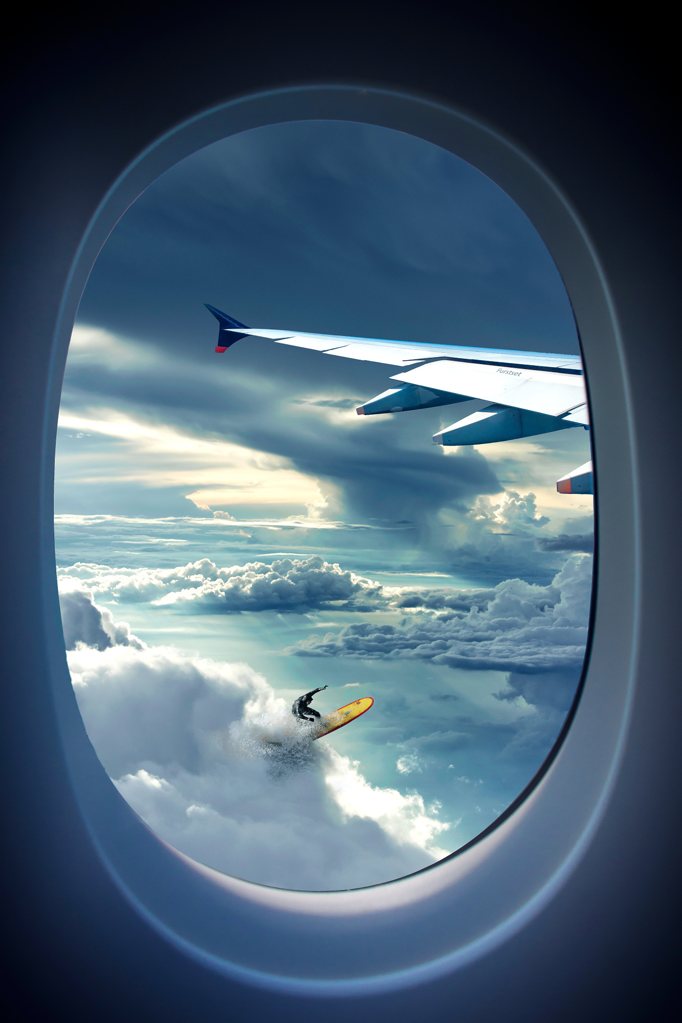 airplane window travel sky aircraft flight landscape light sea clouds