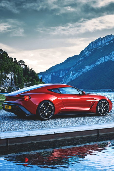 zagato aston martin vanquish sportscar vehicle travel water fast road outdoors landscape