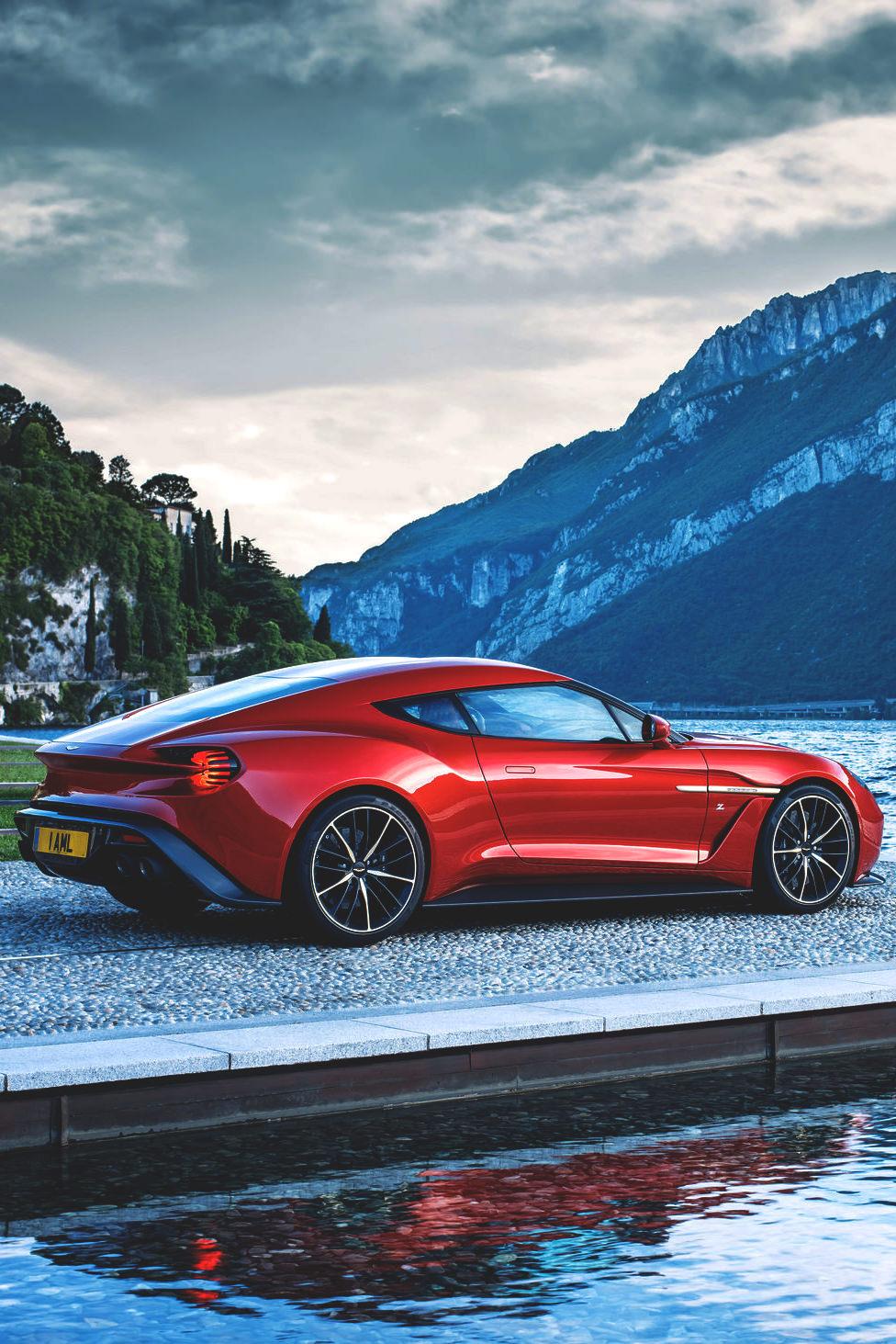zagato aston martin vanquish sportscar vehicle travel water fast road outdoors landscape